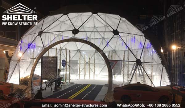 SHELTER cort dome - domuri geodezice - corturi nunti - cort organizare evenimente - Dia. 10m - 253