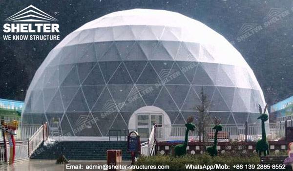 SHELTER Dia. Cort Dome 27m pentru patinoar - Cort de patinaj pentru gheata - Cort de sport -5