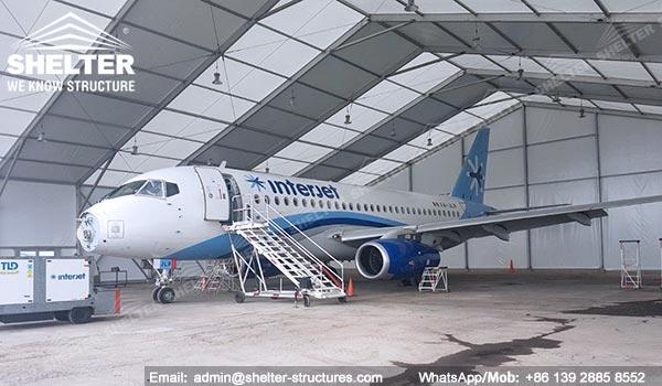 Dispozitiv de protecție a aeronavelor de 20 x 40 metri furnizat în Mexic - Canopy de întreținere portabile pentru aviație -13