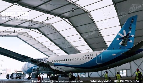 Dispozitiv de protecție a aeronavelor de 20 x 40 metri furnizat în Mexic - Canopy de întreținere portabile pentru aviație -3