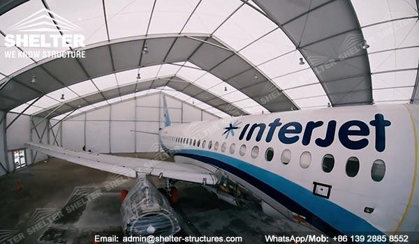 Dispozitiv de protecție a aeronavelor de 20 x 40 metri furnizat în Mexic - Canopy de întreținere portabile pentru aviație -6
