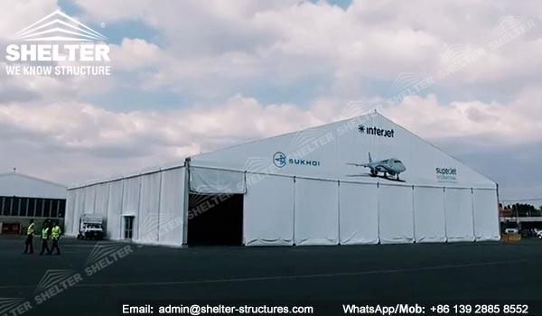Dispozitiv de protecție a aeronavelor de 20 x 40 metri furnizat în Mexic - Canopy de întreținere portabile pentru aviație -8
