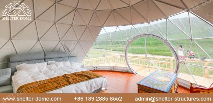 SHELTER Dia. 5m domuri geodezice pentru camping în aer liber în Safari Resort -1
