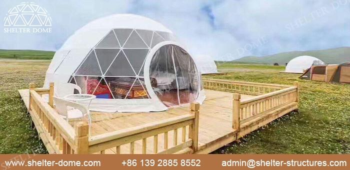 SHELTER Dia. 5m domuri geodezice pentru camping în aer liber în Safari Resort -5