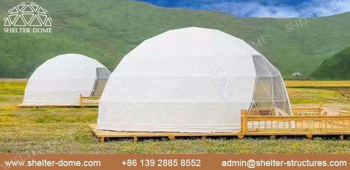 SHELTER Dia. 5m domuri geodezice pentru camping în aer liber în Safari Resort -6