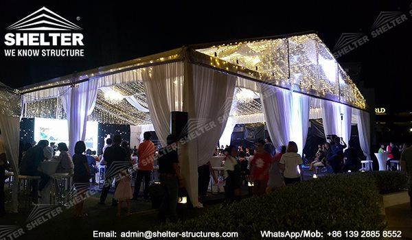 15 x 20 Cort transparent pentru adunare - Cumpărături pentru corturi înalte în Malaezia - Cort pentru micile părți pe pajiște -3