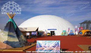 SHELTER Dome Construction - Tent mare pentru geodome pentru expoziție, recepție și lansări (5)