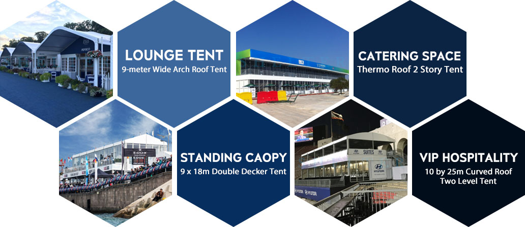 Cortul pentru ospitalitate - Sala VIP Lounge în Evenimentul Sportiv