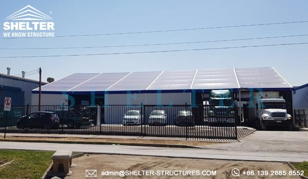 SHELTER corturi industriale - vand cort industrial second hand - Cort industrial pentru logistică -1