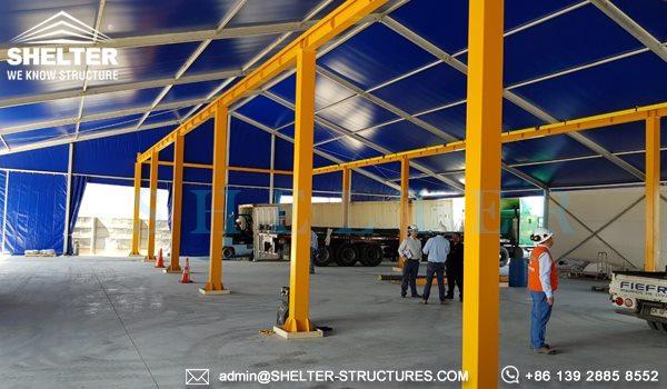 SHELTER corturi industriale - vand cort industrial second hand - Cort industrial pentru logistică -2