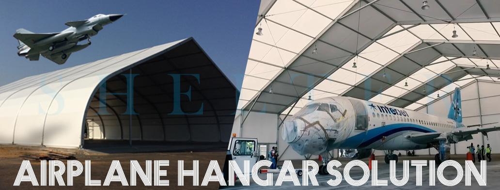 Shelter Aeroportul Hangar Corturi - Cort industrial pentru parcare avion, depozitare - Centrul de întreținere a aeronavelor temporare