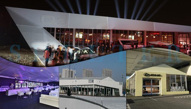 Shelter cort expozitional - corturi evenimente - corturi pentru targuri - Salonul auto -2