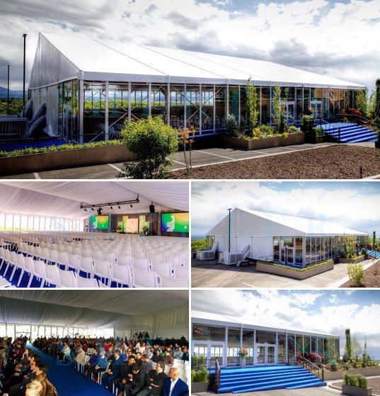 cort profesionist pentru sala de conferinte - locul de desfasurare a ceremoniei - corturi personalizate de vanzare -1