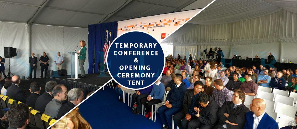 cort profesionist pentru sala de conferinte - locul de desfasurare a ceremoniei - corturi personalizate de vanzare -2