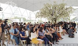 18m Dome de evenimente personalizate pentru vânzare - Branding Dome Structură pentru Pantene - Dome geodezică mare cu vedere panoramică - Dome de protecție 2