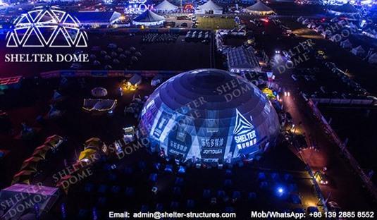 SHELTER Dome Construction - Tent mare pentru geodome pentru expoziție, recepție și lansări 3