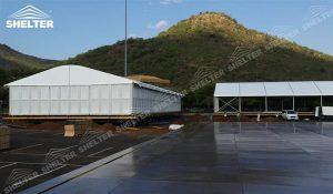 SHELTER Corturi personalizate - corturi de gradina cu acoperis curbat - nunta cort - corturi pentru evenimente -15