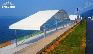 SHELTER Corturi personalizate - corturi de gradina cu acoperis curbat - nunta cort - corturi pentru evenimente -44