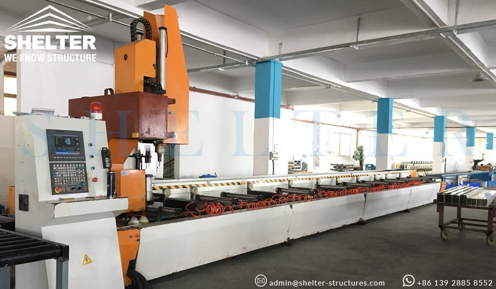Shelter clear span tent factory cnc machine