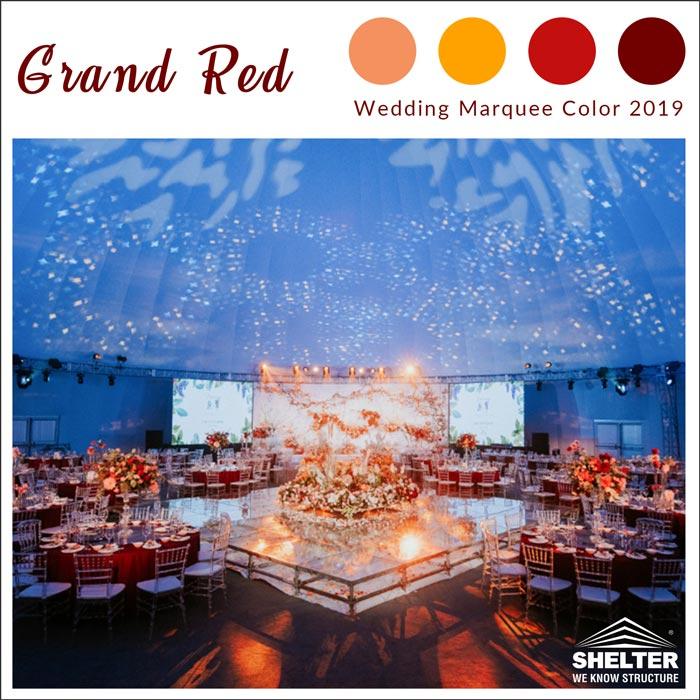 grand-red-Corturi de nunta de decorare- SHELTER Corturi - Corturi pentru Nunti - Corturi Nunta de Vanzare - Drapaje Corturi- Cort Nunta Pret