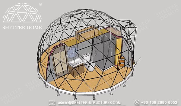 6m glamping dome for jungle resort - casa dom