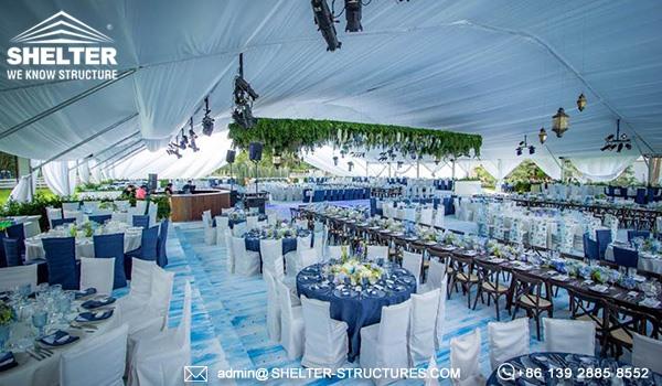 30 x 40m cort pentru nunta - locul de nunta de lux pentru banchet, recemony in romania -5
