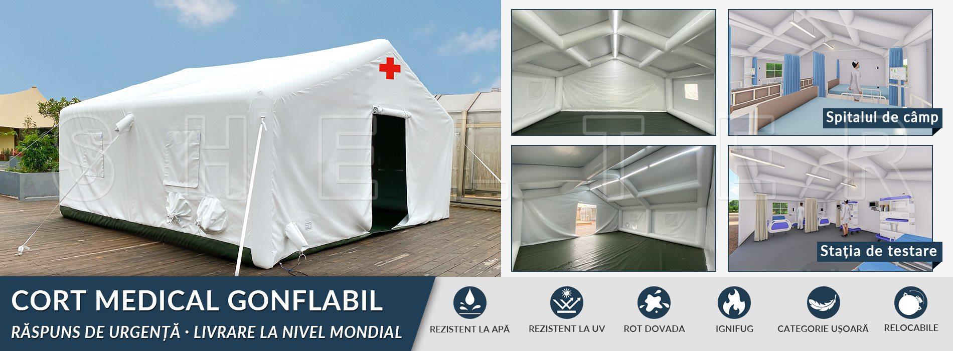 cort medical gonflabil de vânzare – bază de spital temporar 2