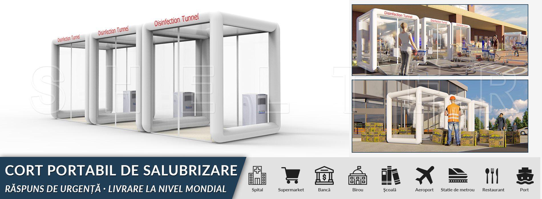 tunel de dezinfectare portabil – corturi de salubritate de vânzare 2