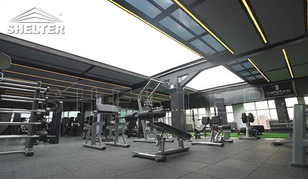 Acopeeriri Terase Telescopica Pentru Hoteluri - Acopeeriri Terase Telescopica Pentru Hoteluri Sală De Gimnastică - SHELTER Acoperiri Terase Retractabila
