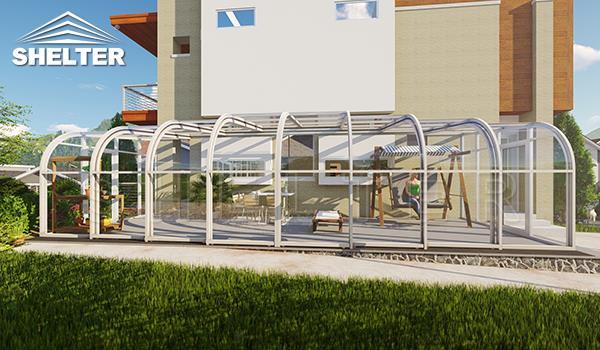 Acoperirea de balcon telescopica- Acoperirea de balcon telescopica de vânzare-Shelter Acoperirea de balcon pentru case