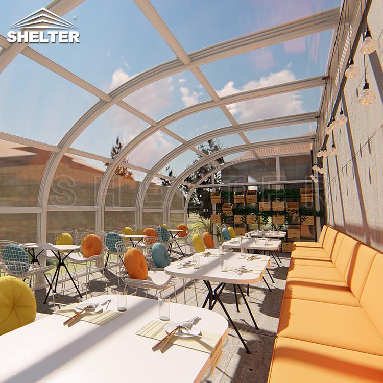 Acoperiri Terase Moderne Pentru Restaurante-Acoperiri Terase Moderne Pentru Centru Comercial-Shelter Acoperiri Terase Demontabila