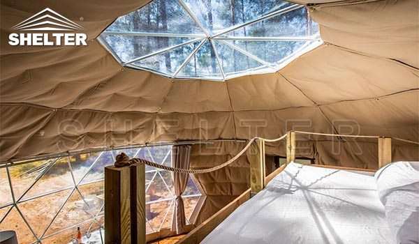lucernă și mezanin design pentru casă de cupole de 7m