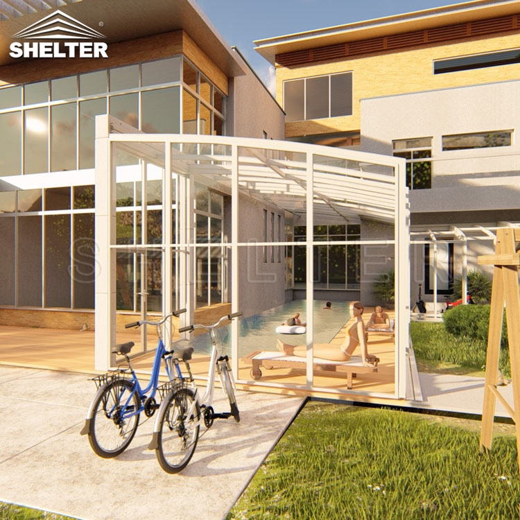 acoperiri terase demontabila-terrace enclosure- shelter movable sunroom